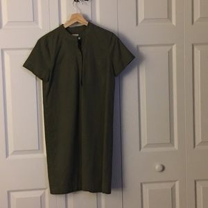 JCrew Collarless Shirtdress